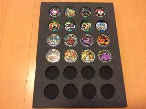 子供用に作成した メダル形跡管理シート